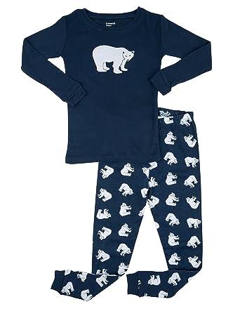 leveret little boys polar bear 2 piece pajama set 100 cotton