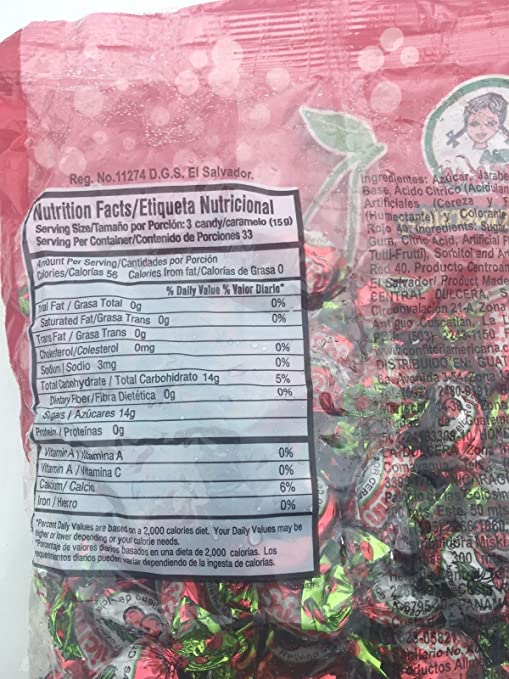 Amazon.com : Chilclin Cherry Mints Tutti-Frutti Bubble Gum Filled Cherry Hard Candy From El Salvador Menta Relleno De Chicle Sabor Cereza- 17, ...