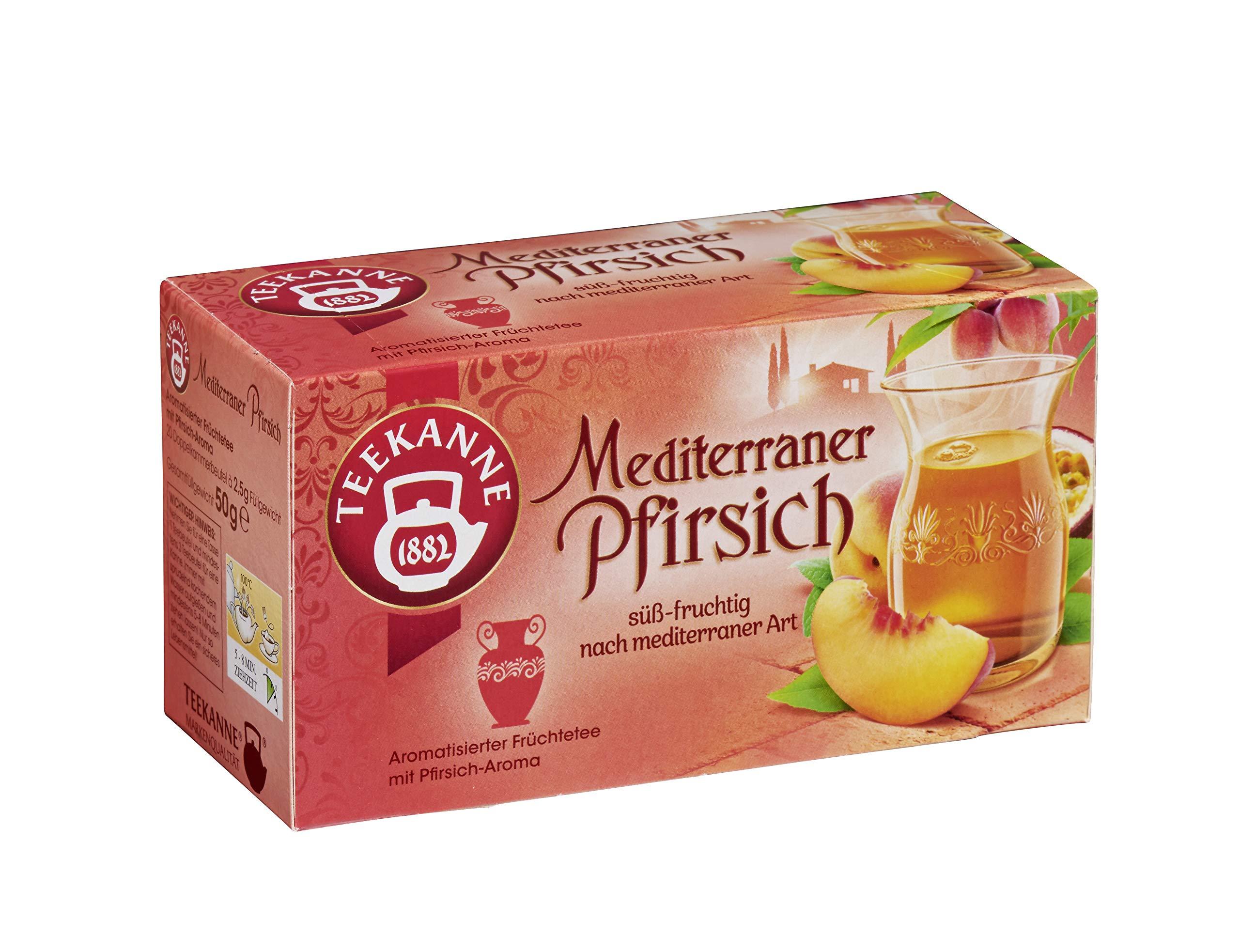 Teekanne Mediterraner Pfirsich / Mediterranean Peach 20 Tea Bags