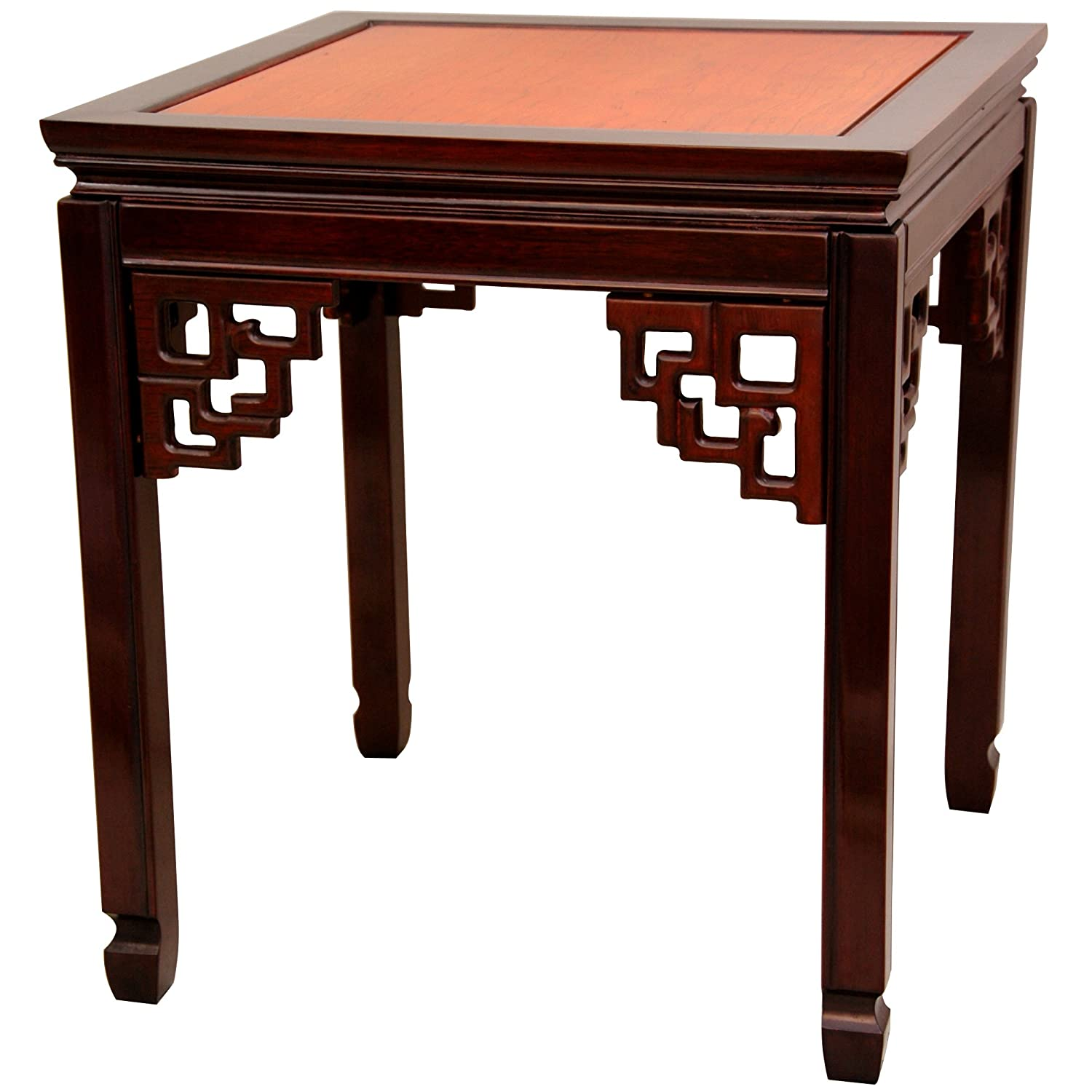 Oriental Furniture Rosewood Square Ming Table – Two-tone