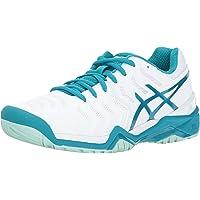 ASICS Gel-Resolution 7 女式网球鞋 白/北极水/冰川海 5.5 M US