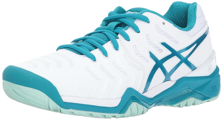 ASICS Women's Gel-Resolution 7 Tennis Shoe B01MY58RV6 6.5 B(M) US White/Arctic Aqua/Glacier Sea