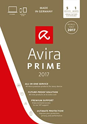 Avira Prime 2017 | 5 Device | 1 Month | Download [Online Code]