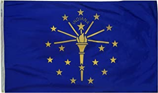 product image for Annin Flagmakers Model 141660 Indiana State Flag 3x5 ft. Nylon SolarGuard Nyl-Glo 100% Made in USA to Official State Design Specifications.