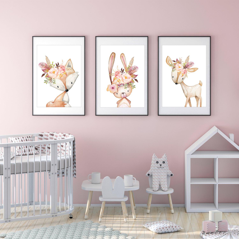 frechdax 3er set poster din a3 ohne bilderrahmen m dchen junge kinderposter bilder f r. Black Bedroom Furniture Sets. Home Design Ideas