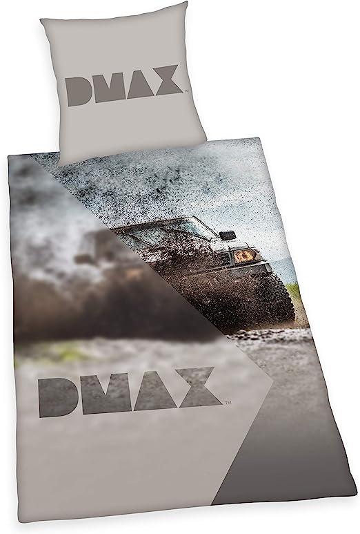 Herding DMAX - Juego de Funda nórdica y Funda de Almohada (algodón, 80 x 80 cm, 135 x 200 cm), Color Gris: Amazon.es: Hogar