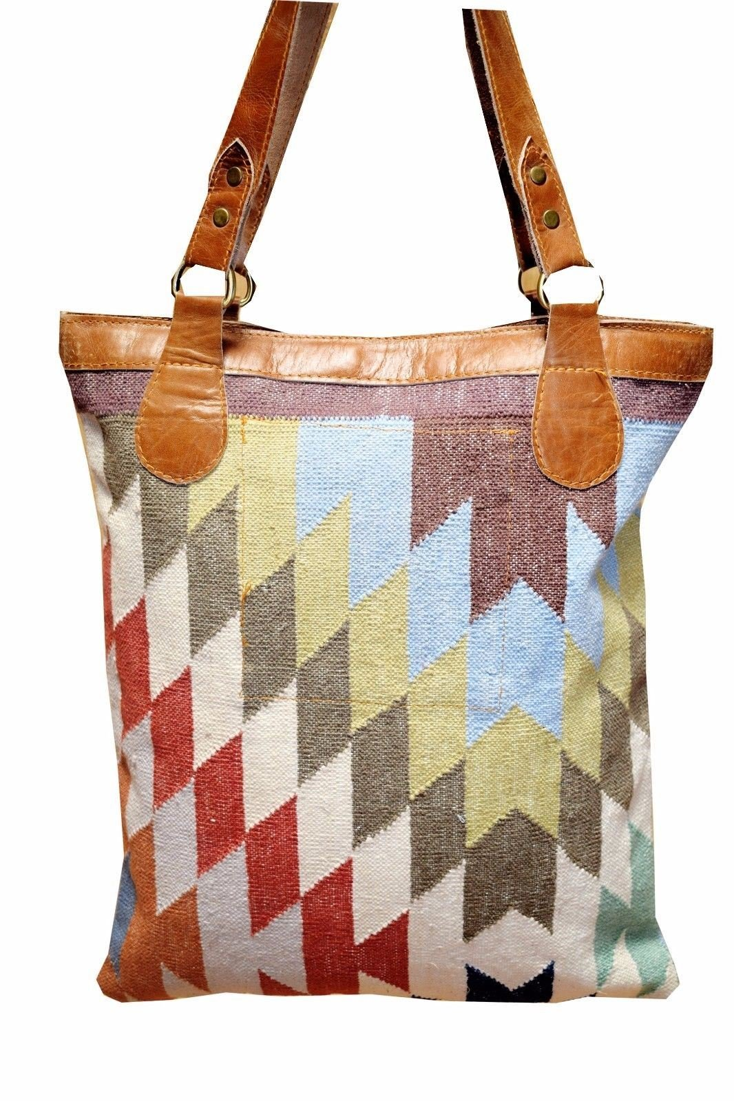 New Womens Indian Embroidery Traditional Handmade Mirror Work Hand Bag Vintage Tote Bags