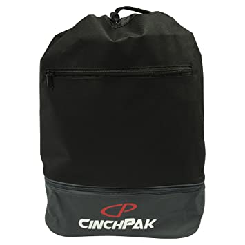 Amazon.com: CinchPak Dual Compartment Drawstring Bag, Black/Grey ...
