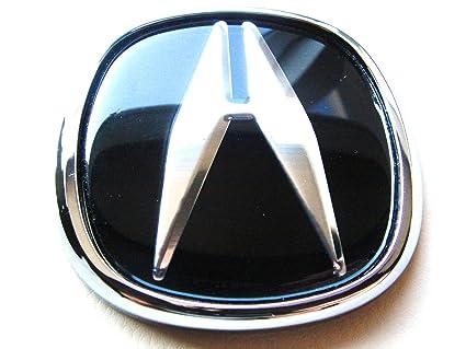 Amazoncom ACURA JDM Black Hood Trunk Emblem Logo Badge Integra RSX - Acura rsx front emblem