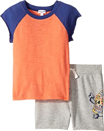Splendid Littles Baby Boys Screened Short Set (Infant) Orange Clothing Set
