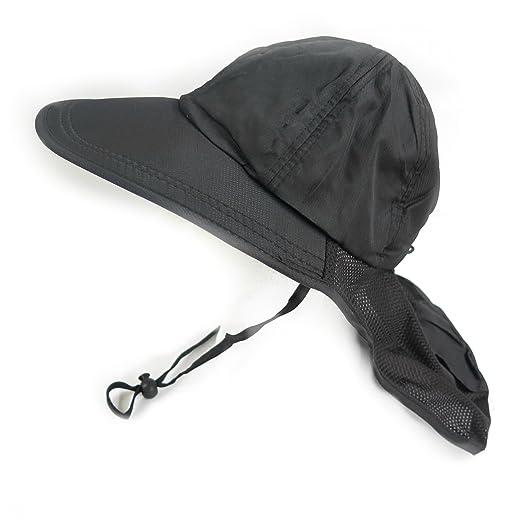 24d4a101934f1 Magg shop Mens Boating Hiking Vintage Summer Sun Flap Adjustable Wide Brim Cap  Bucket Hat (