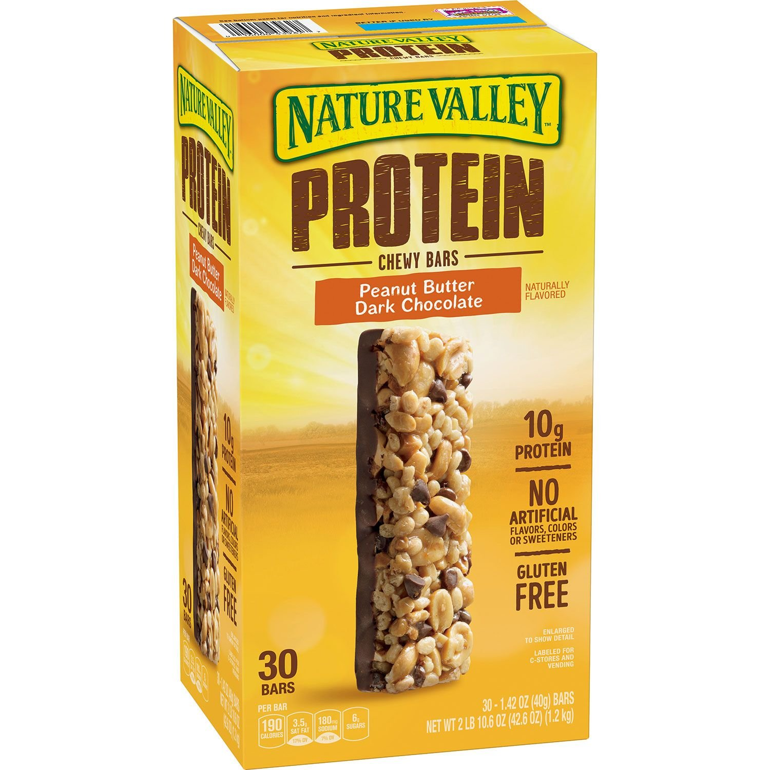 Nature Valley Peanut Butter Dark Chocolate Protein Chewy Bars (1.42 oz, 30 ct.) by Nature Valley