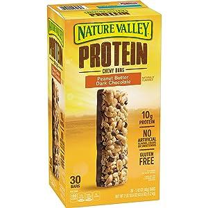 Nature Valley Protein Peanut Butter Dark Chocolate Gluten-free Chewy Bars (1.42 oz., 26 pk.)