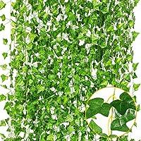Plantas Artificiales,Hiedra Vides Artificiales,Falso lvy Hiedra Falsa Hojas Colgando Vegetación Guirnalda Planta de Vid…