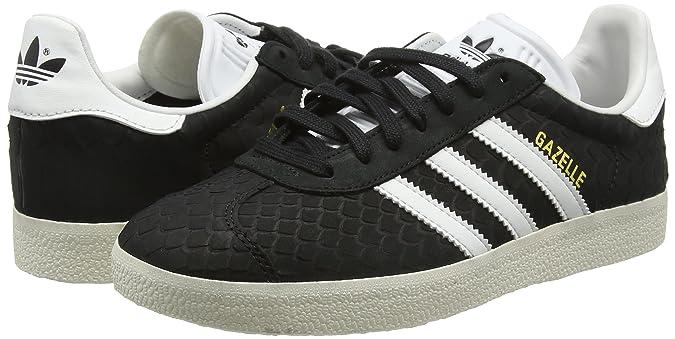 Amazon.com | adidas Womens Gazelle Low-Top Sneakers, Black (Core Black/Crystal White/Chalk White), 4 UK 36 2/3 EU | Fashion Sneakers