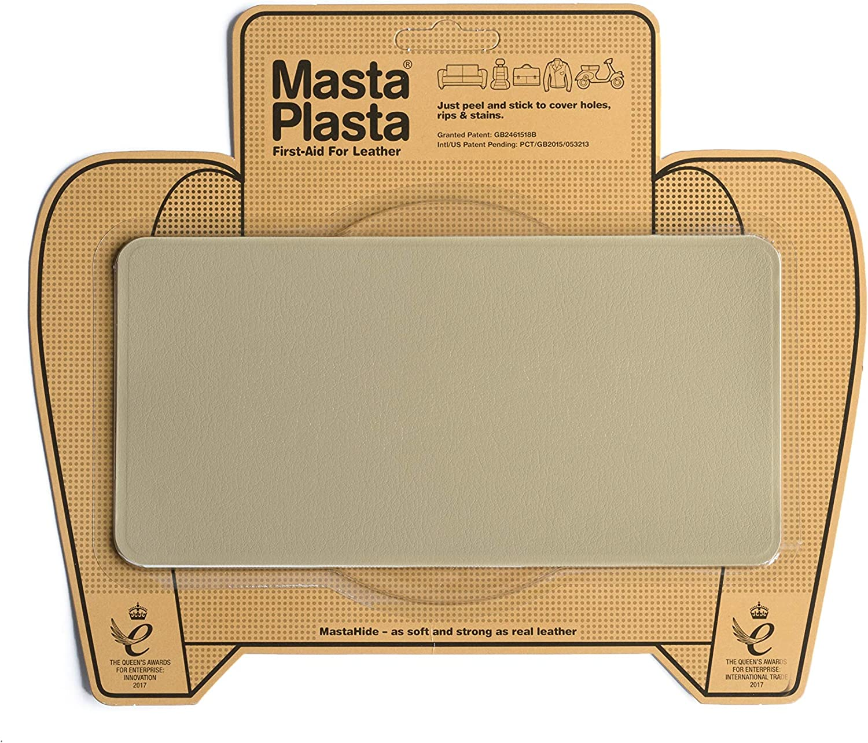 MastaPlasta - Parches Premium AUTOADHESIVOS para reparación de Cuero y Otros Tejidos. Beige. Elije el tamaño y el diseño. Primeros Auxilios para ...
