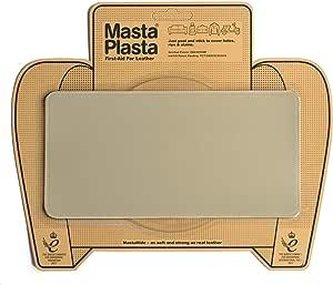 MastaPlasta - Parches Premium AUTOADHESIVOS para reparación de Cuero y Otros Tejidos. Beige. Elije el tamaño y el diseño. Primeros Auxilios para sofás, Asientos de Coche, Bolsos, Chaquetas