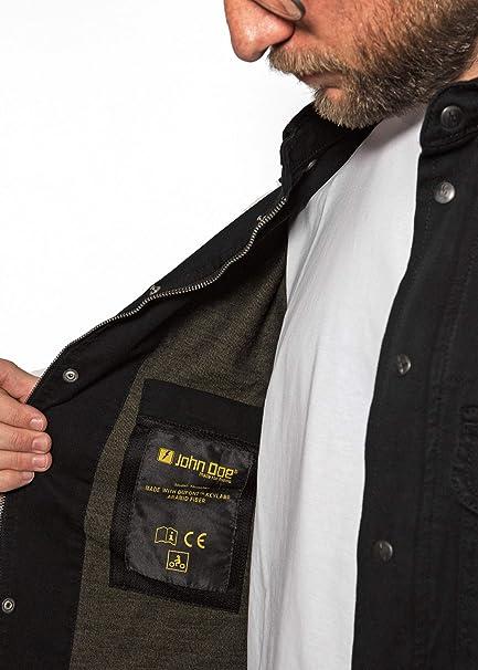 John Doe Herren Motoshirt Black Hemd Auto