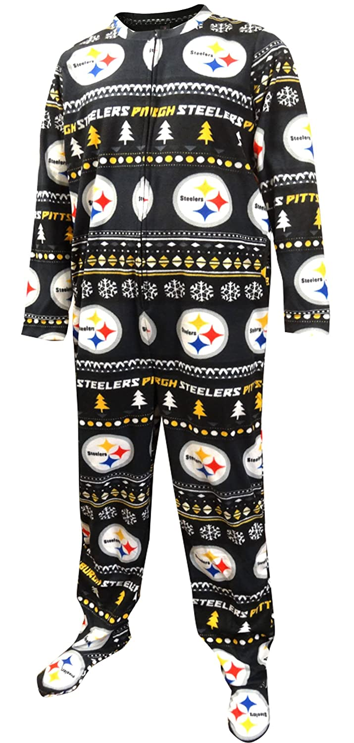 b3fe113a8 Top1  Concepts Sport Men s Pittsburgh Steelers Ugly Sweater Guys One Piece  Footie Pajama