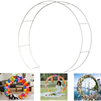 JC HUMMINGBIRD 60 Inches Wedding Round Metal Arch Garden Arbor for Garden, Yard, Wedding, Bridal, Outdoor Party Decoration
