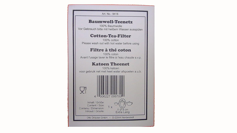 ChaCult Baumwollfilter Teenetz Teefilter Baumwollnetz 100/% Baumwolle Gr.M 9cm