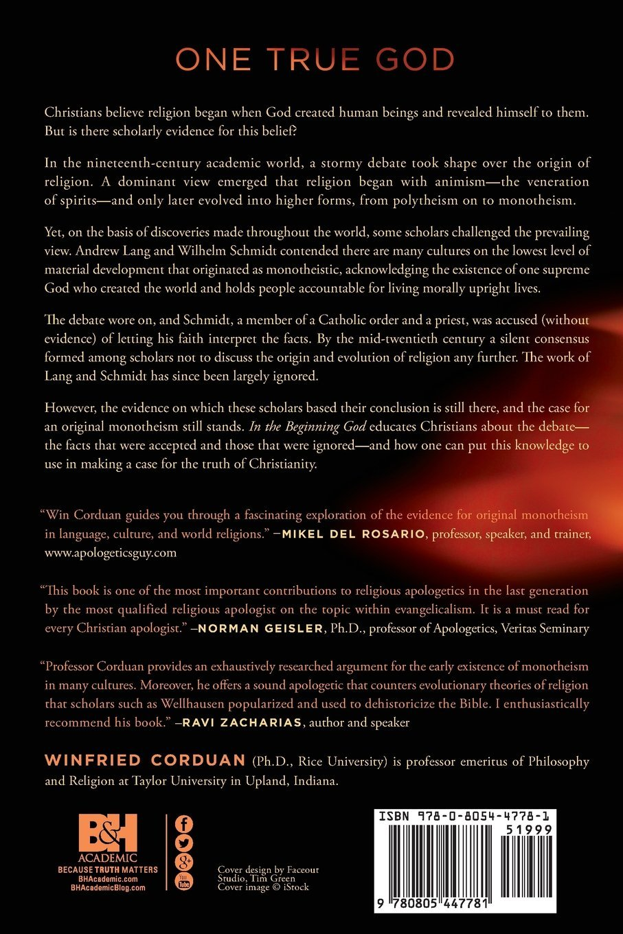 In The Beginning God A Fresh Look At Case For Original Monotheism Winfried Corduan 9780805447781 Amazon Books