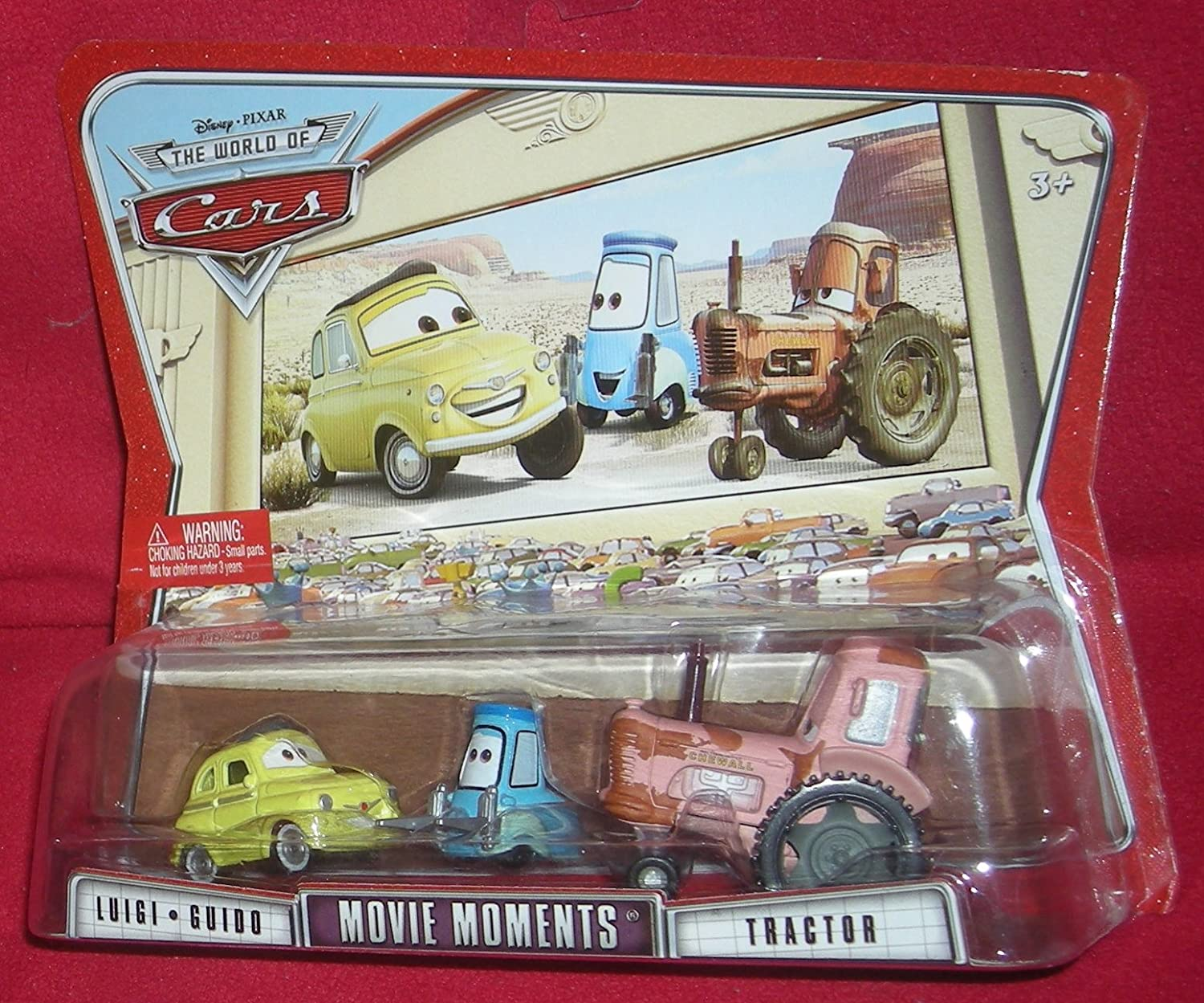Amazon Com Cars Movie Moments Luigi Guido Tractor Toys Games
