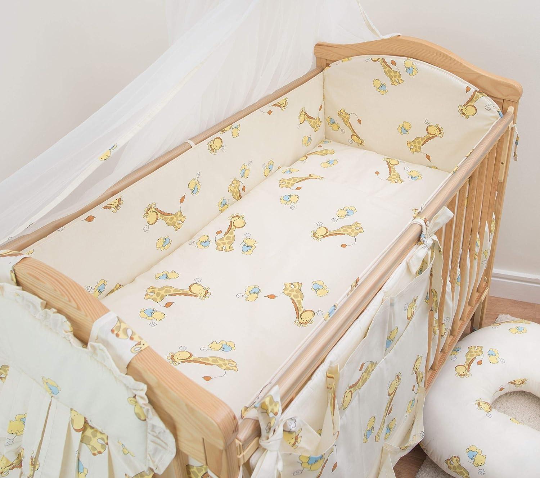 120x60 Pattern 19 Nursery Cot Bedding All-Round Bumper 360cm