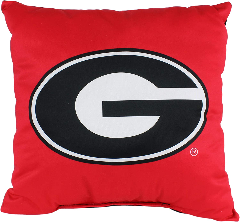 "College Covers Georgia Bulldogs 16"" x 16"" Decorative Pillow"