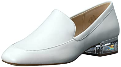 ff512677d Nine West Women s UMISSIT Leather Driving Style Loafer White 7 ...