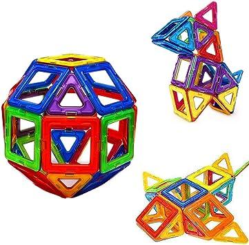 Amazon.com: Bloques de construcción magnéticos, juego de ...