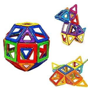 30 Pcs Magnetic Building Blocks, Kids Building Tile Set for Imagination Skill, STEM Learning Educational Toys for Baby Toddlers