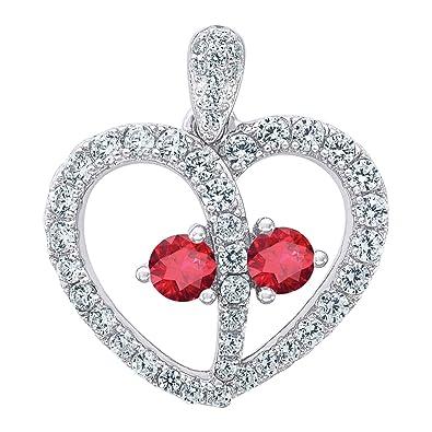 Jawa Jewelers Sterling Silver Womens Round Cubic Zirconia CZ Heart Fashion Charm Pendant