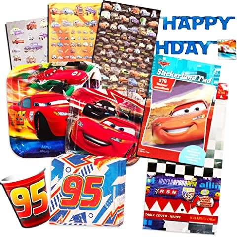Disney Cars Party Supplies Ultimate Set Plates Dessert Cups Napkins Table Cover And