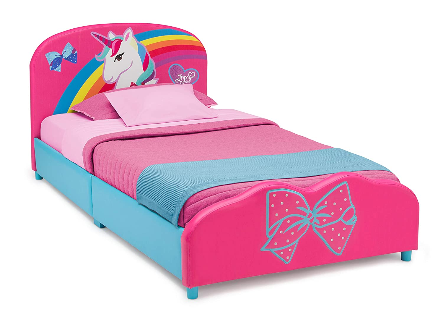 Delta Children Upholstered Twin Bed Jojo Siwa Baby