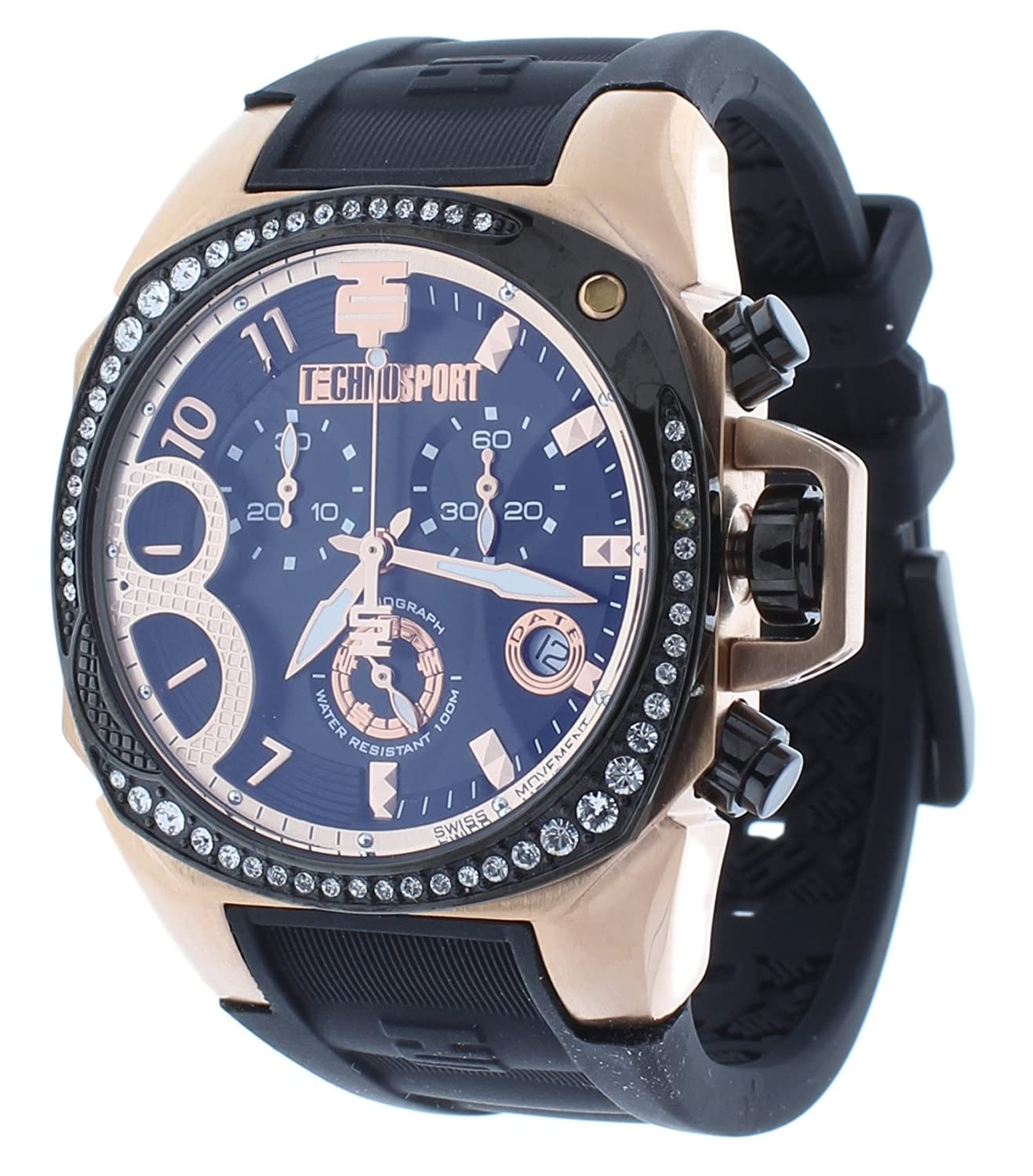 TechnoSport Damen Chrono Uhr - RADIANCE rose gold - schwarz
