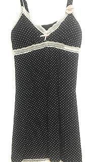 2769bb50ef8d Marilyn Monroe Intimates Women's Pajama Chemise - Black & White Polka Dots  w/Lace Trim