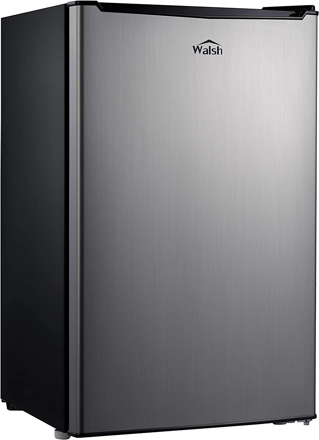 Walsh WSR35S1 Compact Refrigerator Single Door Fridge Adjustable Mechanical Thermostat with Chiller, 3.5 Cu.ft, Stainless Steel Look