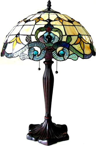 Chloe Lighting CH818806IV16-TL2 Tiffany – Style 2 Light Victorian Table Lamp, 16 x 16 x 24.5 , Multi