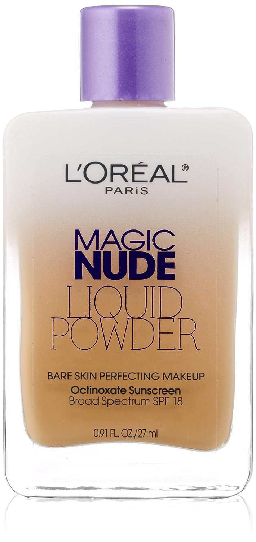 L'Oreal Paris Magic Nude Liquid Powder Bare Skin Perfecting Makeup SPF 18, Natural Beige, 0.91 Ounces