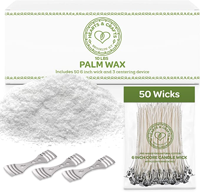 Palm Candle Making Supplies Easy to Make Modeling Candle Wax and Accessory DIY Set for The Making of Ice Candles