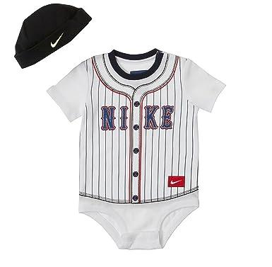 Nike Baby Boy Clothes Fascinating Amazon Nike Baby Boys' Striped Baseball Creeper Hat Set 60060