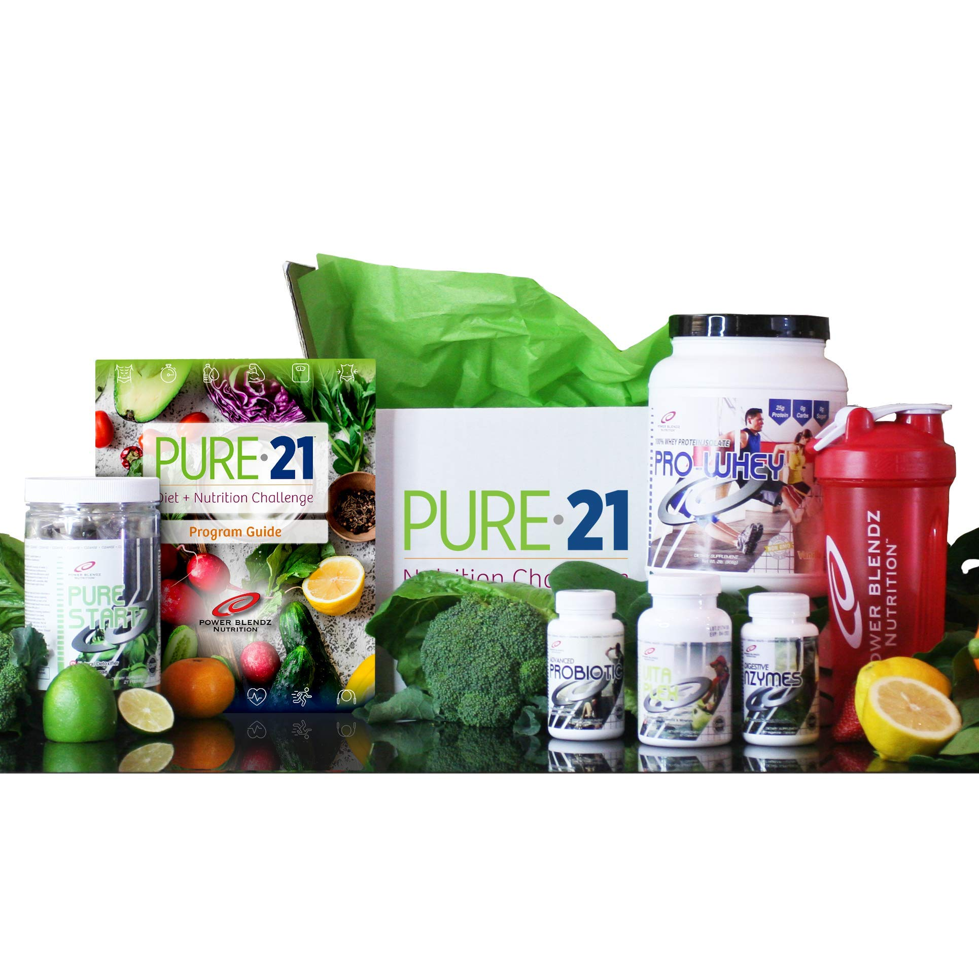 Pure 21 Weight Loss Diet Kit for Healthy Lifestyle   Made in The USA   All Natural   by Power Blendz   Chocolate Flavor