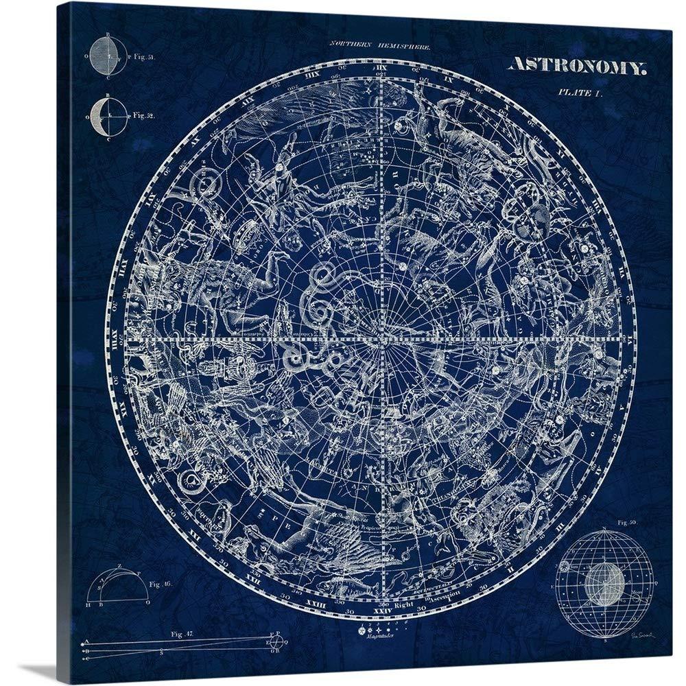 Sue Schlabachプレミアムシックラップカンバスウォールアートプリント題名天体青写真 36