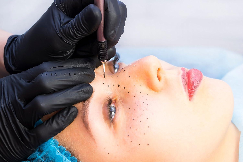 microblading sombreado cuchillas Agujas R17 R18 R19 R21 Premium Adhesivo de cejas tatuaje puntas - Semi Permanente Maquillaje - Agujas desechables de un ...