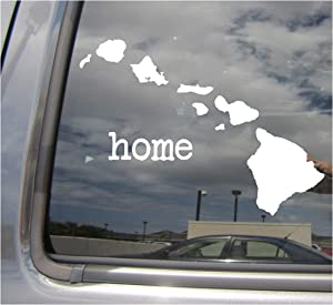 Right Now Decals Hawaii State Home Islands - HI 808 Honolulu Waikiki Aloha USA America - Cars Trucks Moped Helmet Hard Hat Auto Automotive Craft Laptop Vinyl Decal Store Window Wall Sticker 07018
