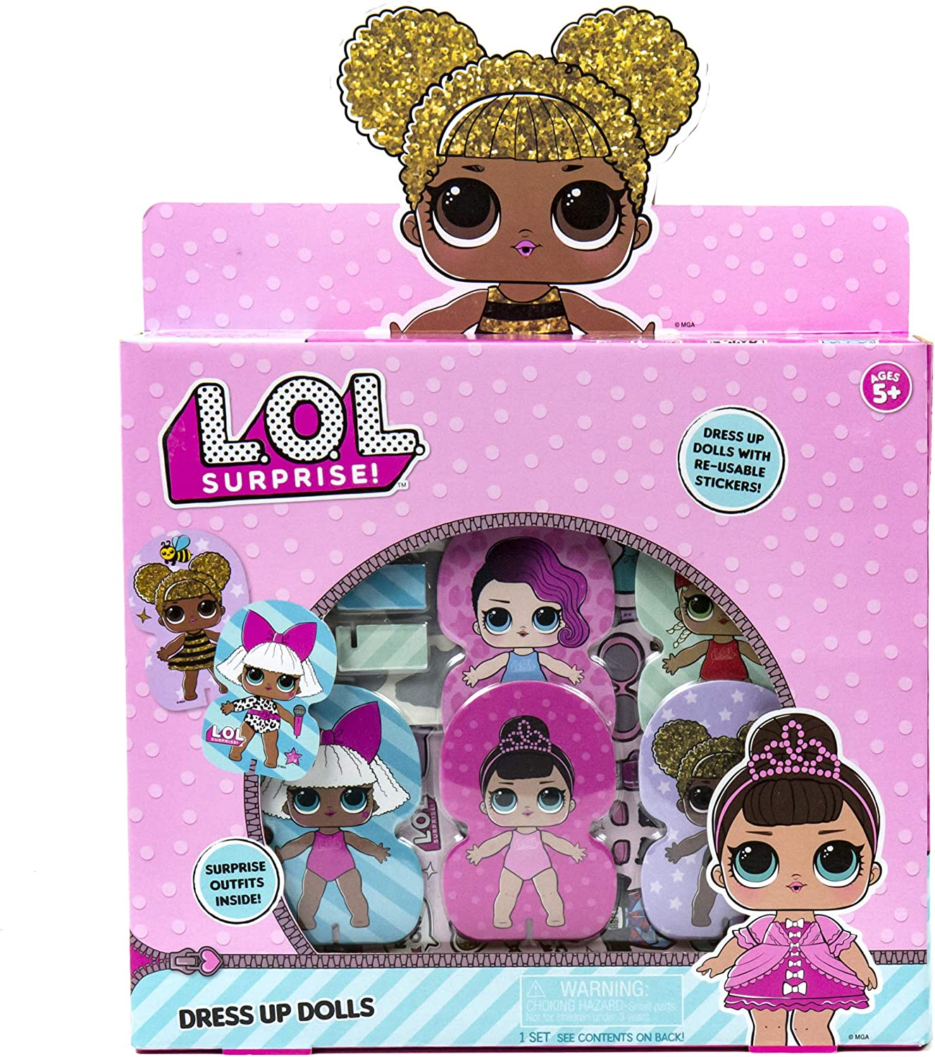 LOL Surprise! Fashion Dress Up Dolls by Horizon Group USA.Create DIY Themes & Patterns.Activity Kit Includes5 Paper Dolls, 1 Repositionable Sticker, Scratch Art, Easy to Follow Instructions & More.