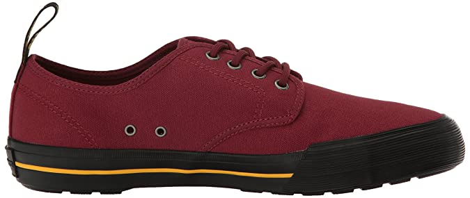 Dr. Martens Pressler, Zapatillas Unisex Adulto, Rojo (Cherry Red 600), 48 EU