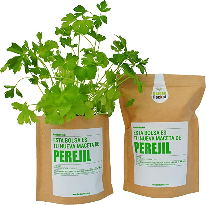 Garden Pocket - Kit de Cultivo de PEREJIL - Bolsa Maceta: Amazon ...