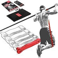Pull Up Weerstandsband Elastiek band Fitness + Trainingsgids – Latex Optrek Powerband | Omhoog trekken Optrekhulp…